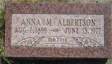 ALBERTSON, ANNA M. - Miner County, South Dakota | ANNA M. ALBERTSON - South Dakota Gravestone Photos