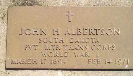 ALBERTSON, JOHN H. - Miner County, South Dakota | JOHN H. ALBERTSON - South Dakota Gravestone Photos