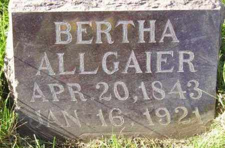 ALLGAIER, BERTHA - Miner County, South Dakota   BERTHA ALLGAIER - South Dakota Gravestone Photos