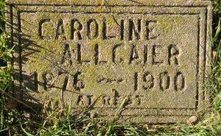 ALLGAIER, CAROLINE - Miner County, South Dakota | CAROLINE ALLGAIER - South Dakota Gravestone Photos