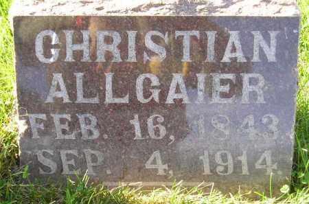 ALLGAIER, CHRISTIAN - Miner County, South Dakota | CHRISTIAN ALLGAIER - South Dakota Gravestone Photos