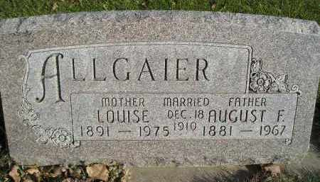 ALLGAIER, LOUISE - Miner County, South Dakota | LOUISE ALLGAIER - South Dakota Gravestone Photos