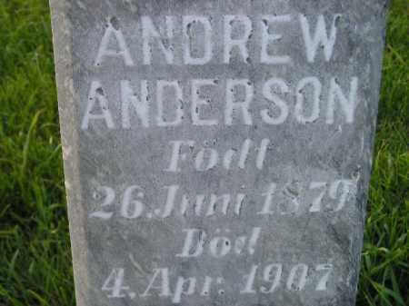 ANDERSON, ANDREW - Miner County, South Dakota | ANDREW ANDERSON - South Dakota Gravestone Photos