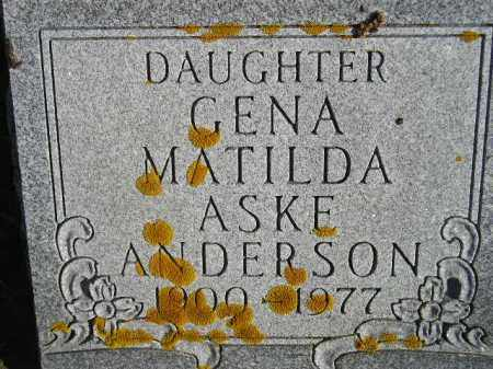 ASKE ANDERSON, GENA MATILDA - Miner County, South Dakota | GENA MATILDA ASKE ANDERSON - South Dakota Gravestone Photos
