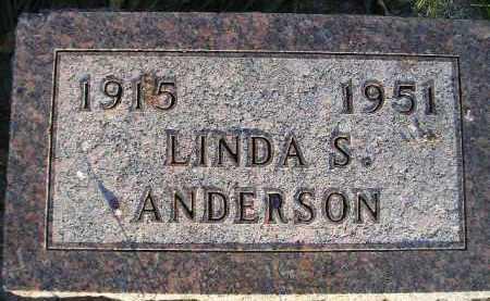 ANDERSON, LINDA S. - Miner County, South Dakota   LINDA S. ANDERSON - South Dakota Gravestone Photos