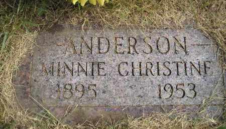 ANDERSON, MINNIE CHRISTINE - Miner County, South Dakota | MINNIE CHRISTINE ANDERSON - South Dakota Gravestone Photos