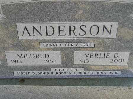 ANDERSON, MILDRED - Miner County, South Dakota | MILDRED ANDERSON - South Dakota Gravestone Photos
