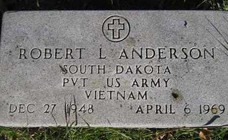 ANDERSON, ROBERT L. - Miner County, South Dakota | ROBERT L. ANDERSON - South Dakota Gravestone Photos