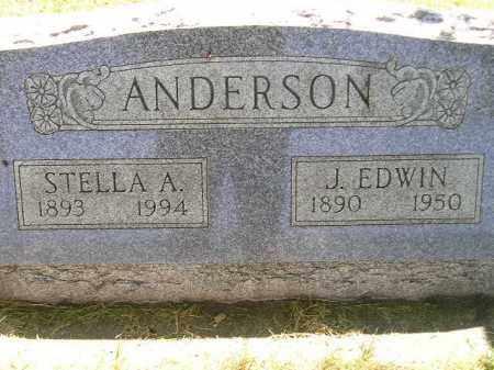 ANDERSON, J. EDWIN - Miner County, South Dakota | J. EDWIN ANDERSON - South Dakota Gravestone Photos