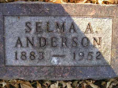ANDERSON, SELMA A. - Miner County, South Dakota | SELMA A. ANDERSON - South Dakota Gravestone Photos