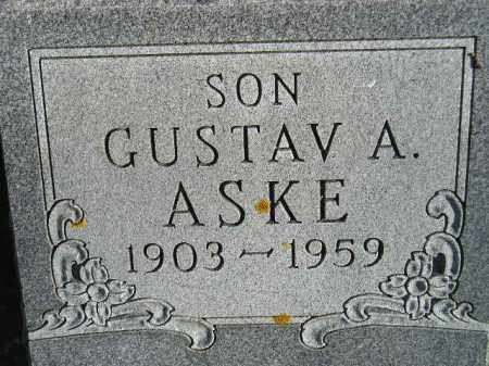 ASKE, GUSTAV A. - Miner County, South Dakota | GUSTAV A. ASKE - South Dakota Gravestone Photos
