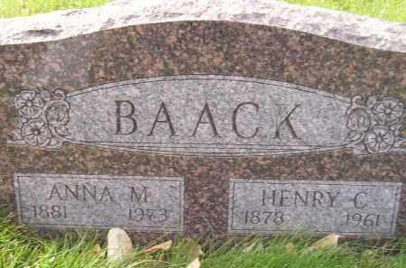 BAACK, ANNA M. - Miner County, South Dakota | ANNA M. BAACK - South Dakota Gravestone Photos
