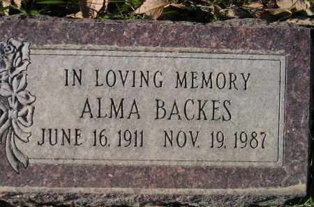 BACKES, ALMA - Miner County, South Dakota | ALMA BACKES - South Dakota Gravestone Photos