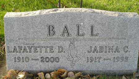 BALL, LAFAYETTE D. - Miner County, South Dakota | LAFAYETTE D. BALL - South Dakota Gravestone Photos