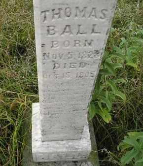 BALL, THOMAS - Miner County, South Dakota   THOMAS BALL - South Dakota Gravestone Photos