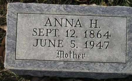 BALSTER, ANNA H. - Miner County, South Dakota   ANNA H. BALSTER - South Dakota Gravestone Photos