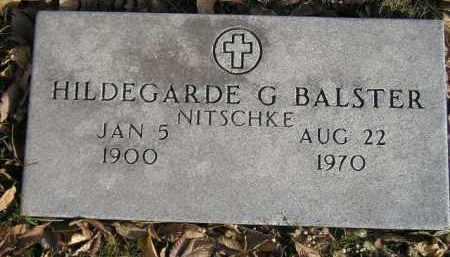NITSCHKE BALSTER, HILDEGARDE G. - Miner County, South Dakota   HILDEGARDE G. NITSCHKE BALSTER - South Dakota Gravestone Photos