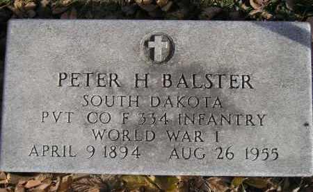 BALSTER, PETER H. - Miner County, South Dakota | PETER H. BALSTER - South Dakota Gravestone Photos