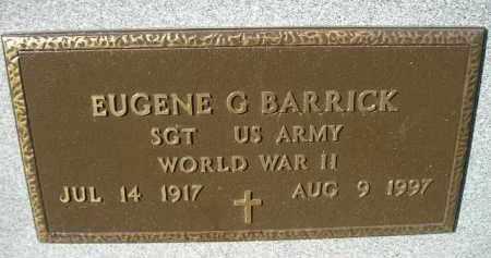 BARRICK, EUGENE G. (WW II) - Miner County, South Dakota   EUGENE G. (WW II) BARRICK - South Dakota Gravestone Photos