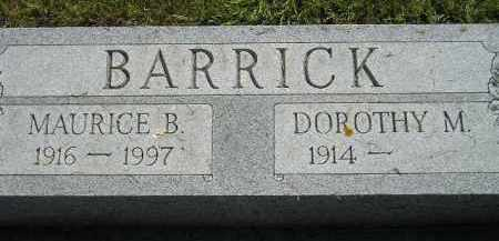 BARRICK, MAURICE B. - Miner County, South Dakota | MAURICE B. BARRICK - South Dakota Gravestone Photos