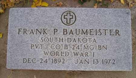 BAUMEISTER, FRANK P. - Miner County, South Dakota | FRANK P. BAUMEISTER - South Dakota Gravestone Photos
