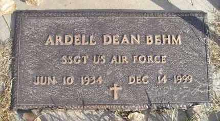 BEHM, ARDELL DEAN (MILITARY) - Miner County, South Dakota | ARDELL DEAN (MILITARY) BEHM - South Dakota Gravestone Photos