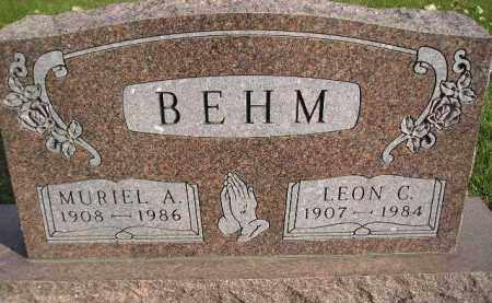 BEHM, MURIEL A. - Miner County, South Dakota | MURIEL A. BEHM - South Dakota Gravestone Photos