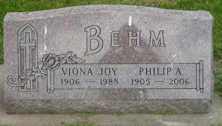 BEHM, VIONA JOY - Miner County, South Dakota | VIONA JOY BEHM - South Dakota Gravestone Photos