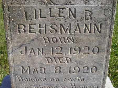 BEHSMANN, LILLEN B. - Miner County, South Dakota | LILLEN B. BEHSMANN - South Dakota Gravestone Photos