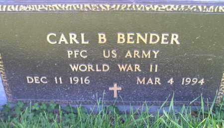 BENDER, CARL B. (WW II) - Miner County, South Dakota | CARL B. (WW II) BENDER - South Dakota Gravestone Photos