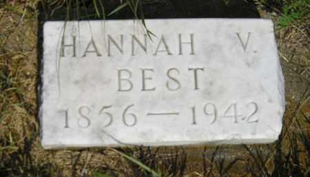 BEST, HANNAH V. - Miner County, South Dakota   HANNAH V. BEST - South Dakota Gravestone Photos