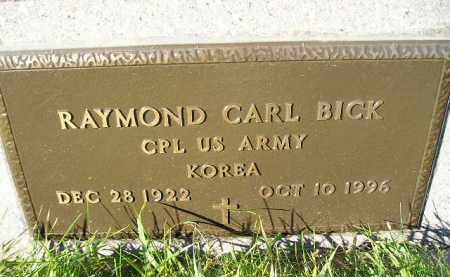 BICK, RAYMOND CARL (MILITARY) - Miner County, South Dakota | RAYMOND CARL (MILITARY) BICK - South Dakota Gravestone Photos