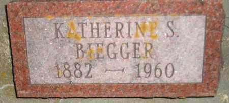 BIEGGER, KATHERINE S. - Miner County, South Dakota | KATHERINE S. BIEGGER - South Dakota Gravestone Photos