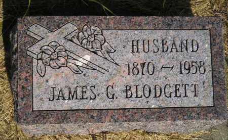 BLODGETT, JAMES G. - Miner County, South Dakota | JAMES G. BLODGETT - South Dakota Gravestone Photos