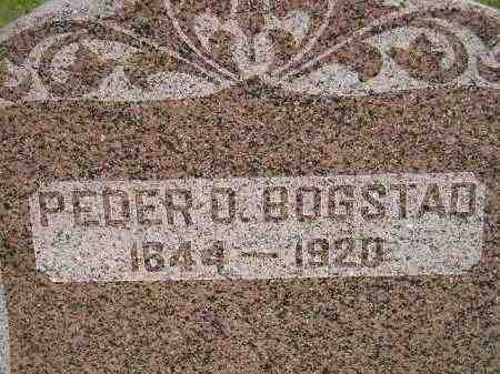 BOGSTAD, PEDER O. - Miner County, South Dakota | PEDER O. BOGSTAD - South Dakota Gravestone Photos