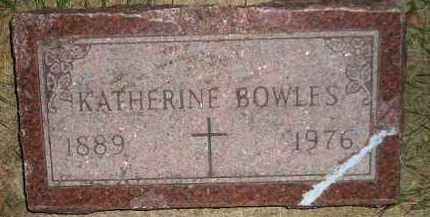 BOWLES, KATHERINE - Miner County, South Dakota | KATHERINE BOWLES - South Dakota Gravestone Photos
