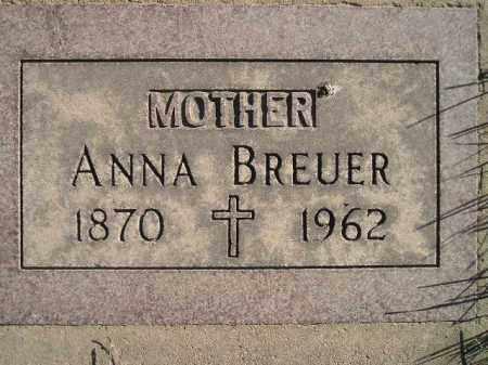 BREUER, ANNA - Miner County, South Dakota   ANNA BREUER - South Dakota Gravestone Photos