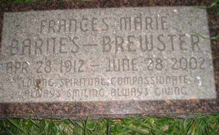 BARNES BREWSTER, FRANCES MARIE - Miner County, South Dakota | FRANCES MARIE BARNES BREWSTER - South Dakota Gravestone Photos
