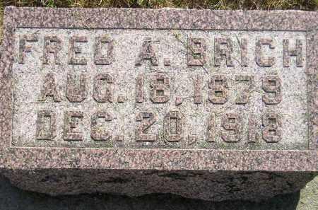 BRICH, FRED A. - Miner County, South Dakota | FRED A. BRICH - South Dakota Gravestone Photos