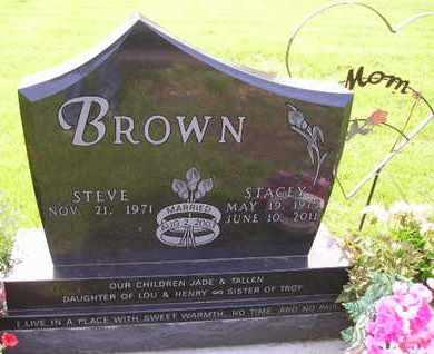 BROWN, STACEY - Miner County, South Dakota   STACEY BROWN - South Dakota Gravestone Photos