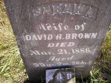 BROWN, SARAH A. - Miner County, South Dakota | SARAH A. BROWN - South Dakota Gravestone Photos