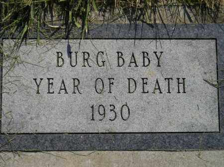BURG, BABY - Miner County, South Dakota | BABY BURG - South Dakota Gravestone Photos