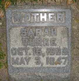 BURKE, SARAH - Miner County, South Dakota | SARAH BURKE - South Dakota Gravestone Photos