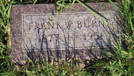 BURNS, FRANK W. - Miner County, South Dakota | FRANK W. BURNS - South Dakota Gravestone Photos