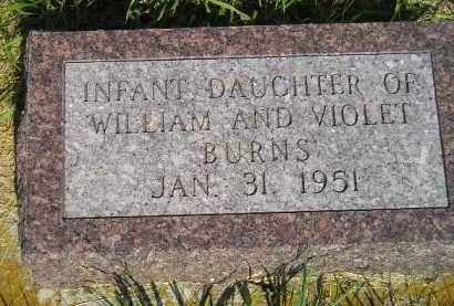 BURNS, INFANT DAUGHER - Miner County, South Dakota | INFANT DAUGHER BURNS - South Dakota Gravestone Photos