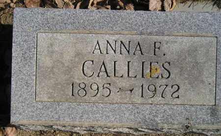 CALLIES, ANNA F. VOELTZ - Miner County, South Dakota | ANNA F. VOELTZ CALLIES - South Dakota Gravestone Photos