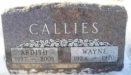 CALLIES, ARDITH - Miner County, South Dakota | ARDITH CALLIES - South Dakota Gravestone Photos