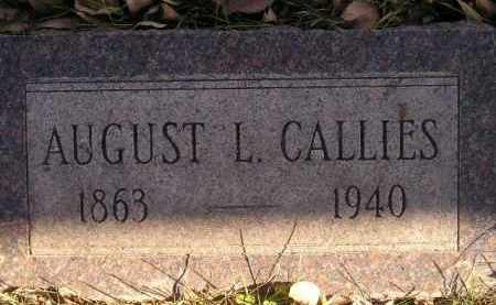 CALLIES, AUGUST L. - Miner County, South Dakota | AUGUST L. CALLIES - South Dakota Gravestone Photos