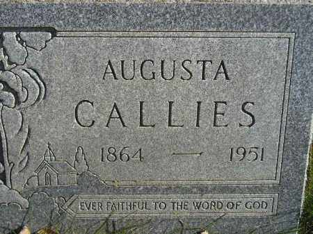 CALLIES, AUGUSTA - Miner County, South Dakota | AUGUSTA CALLIES - South Dakota Gravestone Photos