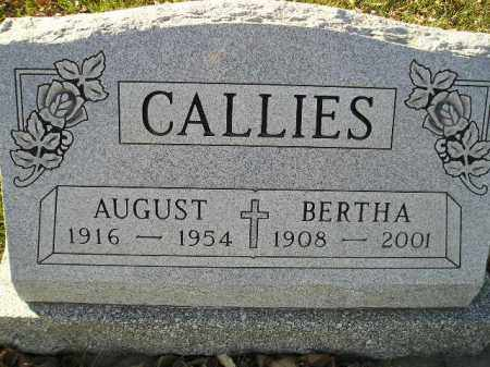 VOELTZ CALLIES, BERTHA - Miner County, South Dakota | BERTHA VOELTZ CALLIES - South Dakota Gravestone Photos
